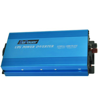 Dc 12 فولت إلى ac 220 فولت 1000 واط تعديل شرط موجة العاكس مع ups وظيفة و البعيد تحكم