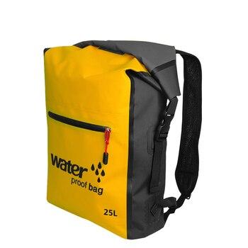 25L открытый водостойкий сухой мешок рюкзак сумка для хранения Рафтинг Спорт Каякинг каноэ водонепроницаемые сумки дорожные наборы рюкзаки