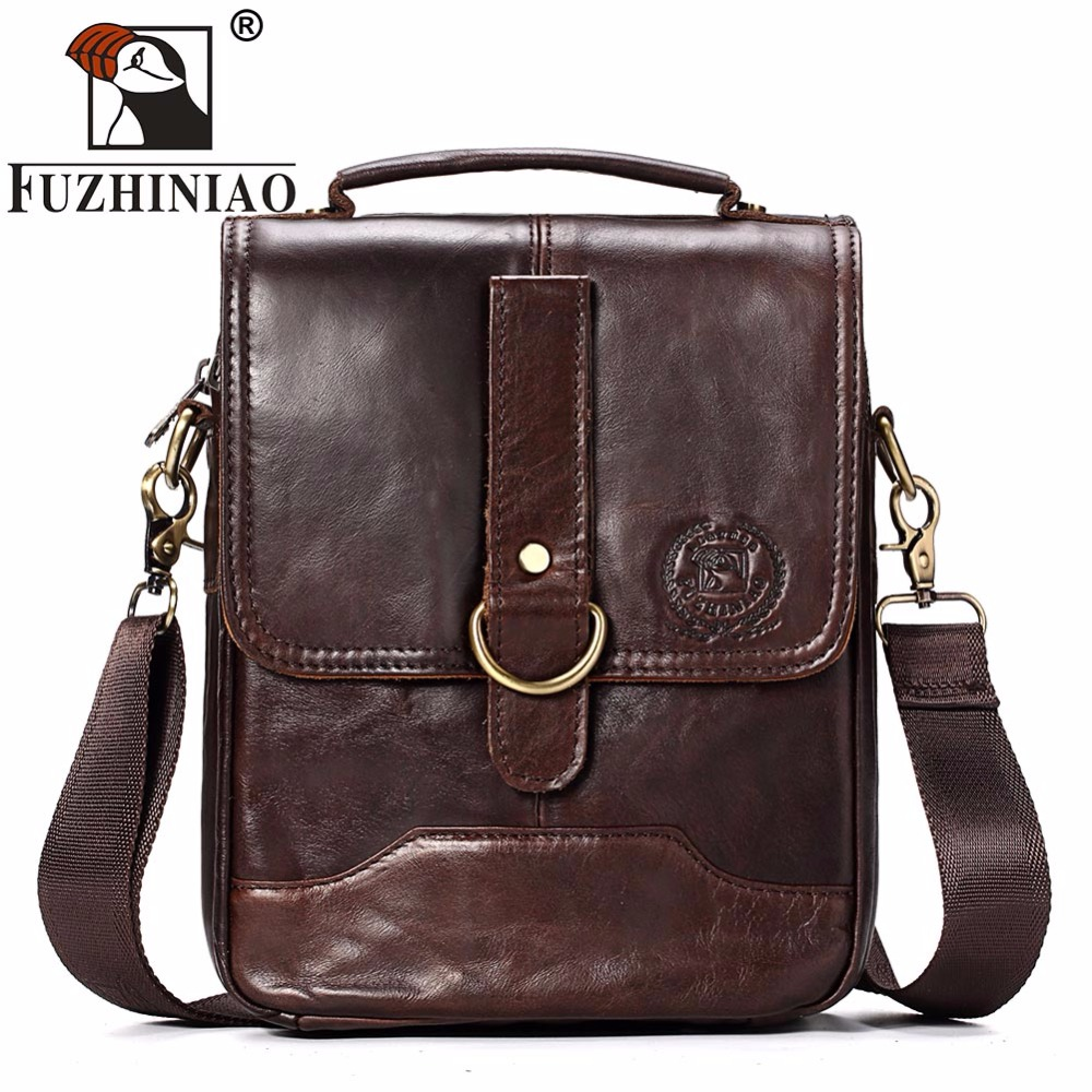 Famous Brand FUZHINIAO Men Bag Fashion Mens Messenger Bags Vintage High Quality Men's Crossbody Bag Bolsas Male Shoulder Bags new fashion man bag high quality nylon men messenger bags black famous brand waterproof male shoulder crossbody bag fb3102