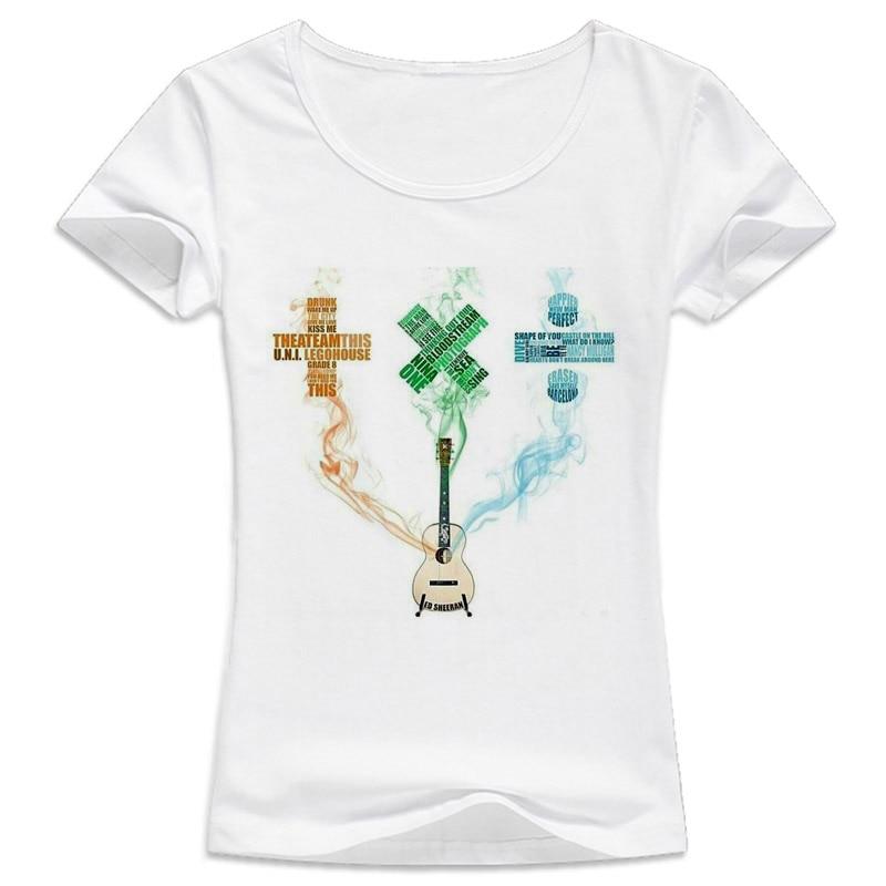 Ed Sheeran camiseta mujeres Venta caliente Harajuku camiseta mujeres kawaii chica nueva camiseta buena calidad camiseta ocasional femenina superior