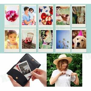 Image 3 - Para Fujifilm Instax Mini 8 Mini 9, cámara de fotos instantáneas, funda de piel sintética, funda para bolsa + 20 hojas Instax Mini Films + juego de accesorios