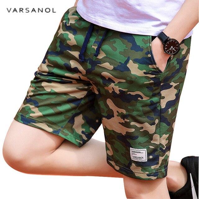 Varsanol Camouflage Shorts Mens Military Style Casual Shorts Men's Summer Beach Shorts New Fashion Streetwear Elastic Waist 920