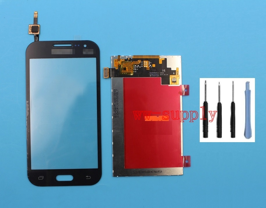 Top Front Touch Screen Digitizer LCD Display for Samsung Galaxy Core Prime SM G360F G3608 Sticker