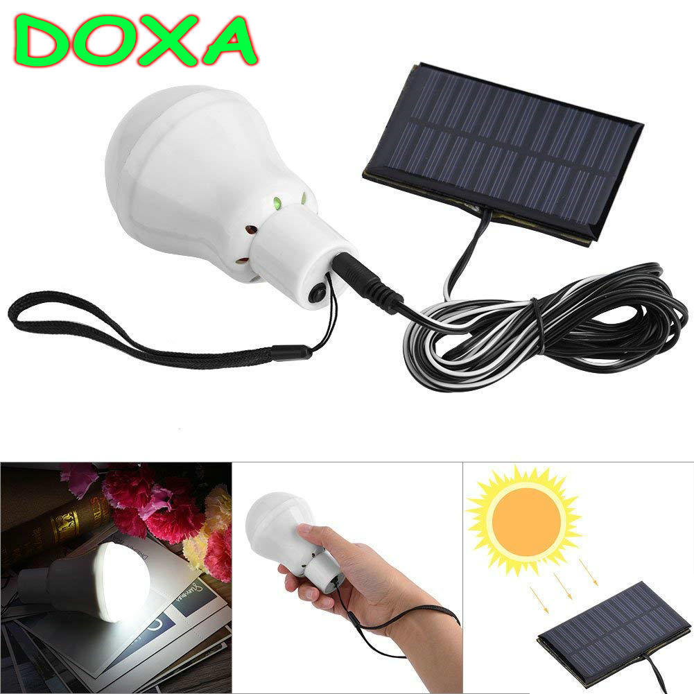 DOXA Rotatable IP65 Waterproof Portable Solar Energy 12 LED 3W 1000mA Rechargeable Bulb Light Outdoor Camping Yard Tent Lamp mingray 3w mini camping lanterna led bulb aaa battery outdoor portable light water resistant tent camping lantern led bulb