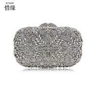 Xiyuan Марка Золото Серебро Вечерние сумки женские Для женщин Green Day Клатчи клатч кристалл Свадебная вечеринка клатч кошелек