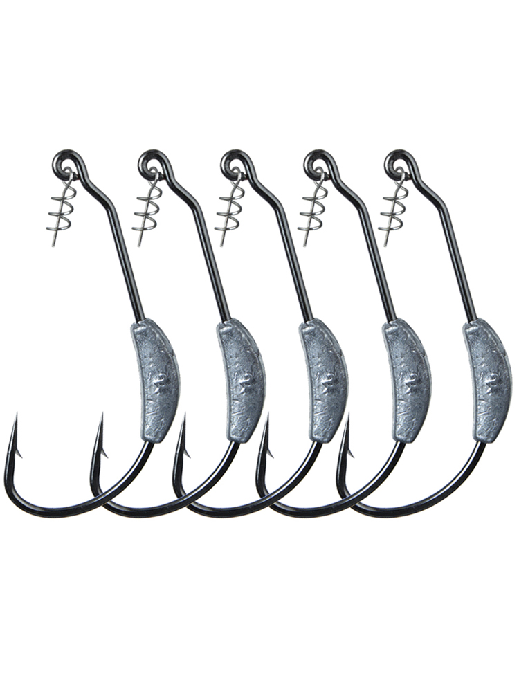 5pcs High Density Lead Fishing Sinkers Weights for Fishing Hook Offset Hooks