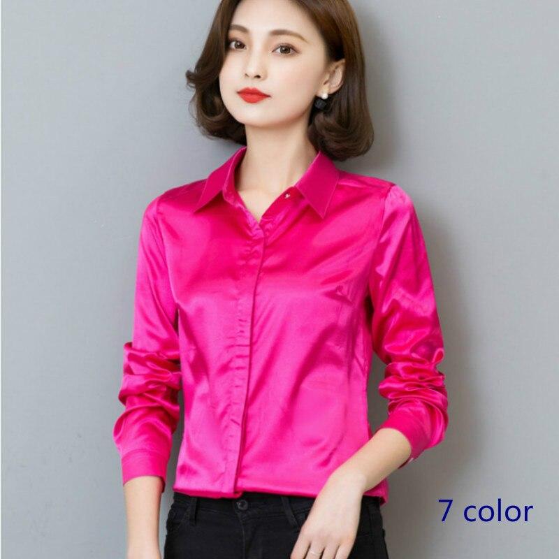 Silk Satin Blouse Long Sleeve for Women