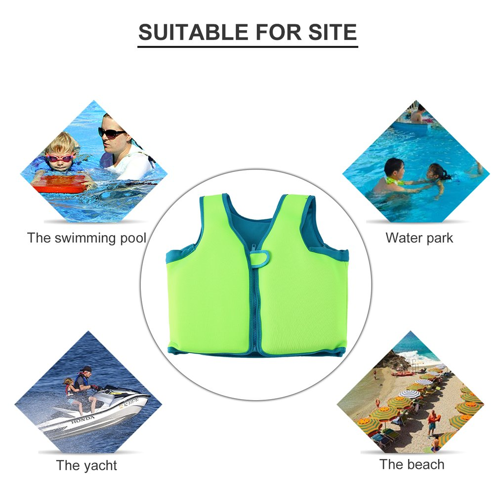 Hot! Baby Swim Vest Float Kids Swim Trainer Buoyancy Swimsuit Boys Girls Life Vest Rafting Life Jacket Swimming Pool Accessories