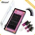 Dollylash individual cílios extensão natural eye lashes artificial falso vison cílios postiços 12 linhas uma bandeja preta
