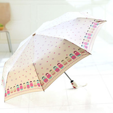 Full-Automatic Folding Sunshade Umbrella Romantic Cute Rain Children Creative Parasol Matryoshka Doll Umbrellas
