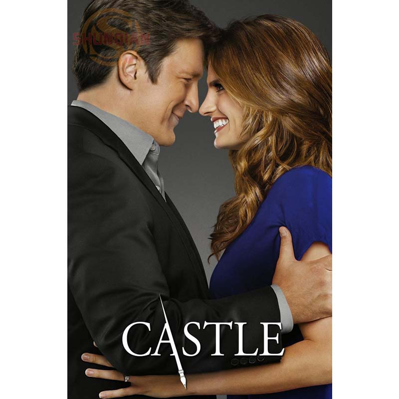 Custom Your Favourite Photos Posters Castle Nathan Fillion Stana Katic 27x40cm Fabric Cloth Poster Poster Birthday Gift