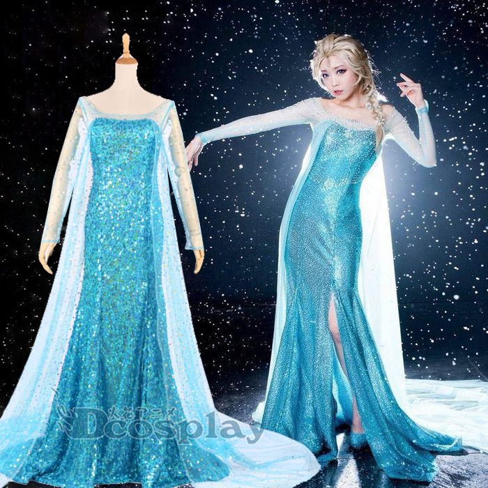 OISK Quality Frozen Elsa Anna Dress Movie Cosplay Costume Professional Frozen Party Frozen Theme Costumes Princess For Womens-in Anime Costumes from Novelty ... & OISK Quality Frozen Elsa Anna Dress Movie Cosplay Costume ...