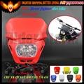 12V Universal Motorcycle Street fighter dirt bike Headlight Headlamp For Honda CRF XR CR XL CRM FMX 250 450 YBR 125 250 XJR 400R