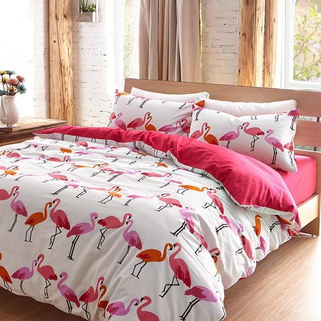 Aliexpress.com : Buy Luxury Flamingo bird bedding set