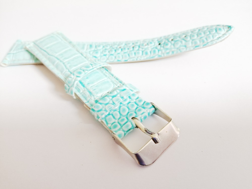 Hot 12colors wholesale watchbands 18MM20MM watch strap snakeskin grain watchband electronic belt for hours for in Watchbands from Watches