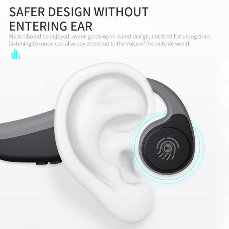 V9 Bluetooth TWS 5.0 bezprzewodowy/a słuchawki słuchawki przewodnictwa kostnego sportowe na świeżym powietrzu zestaw słuchawkowy z mikrofonem słuchawki douszne dla telefonów komórkowych