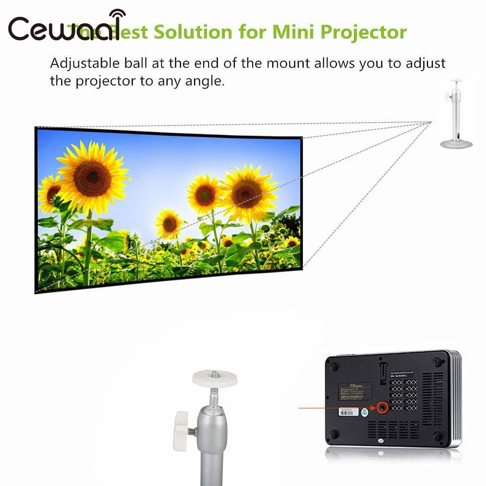 Bracket 360 Degrees Portable DLP Projector Wall Mount Aluminum Alloy Camcorder Ceiling Stand Premium Silver