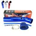 """Universal 3 """"76mm De Aluminio Tubo de Admisión de Aire del coche Kit/3 Pulgadas Tubo De Aluminio Racing Car Cold Air Intake filtro De Aire"""