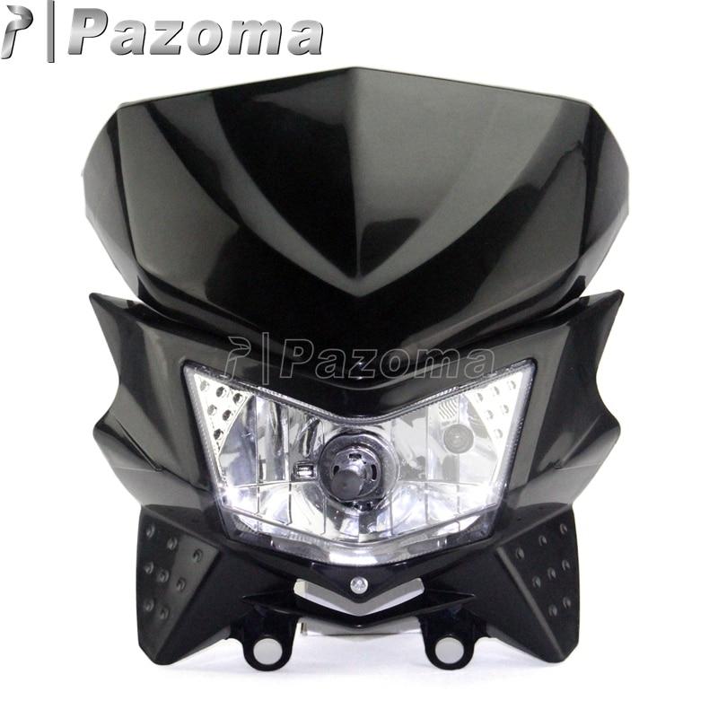 Black Headlamp Mini Motorcycle Streetfighter Enduro