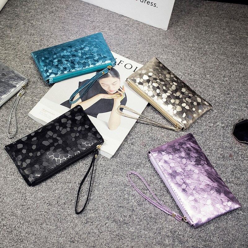 купить Fashion Women Coin Holder Bag Case Pu Leather Zipper Coin Wallet Purse Girls Bank Card Key Money Small Wrist Bag по цене 72.08 рублей