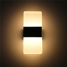 Lámpara de pared LED arriba y abajo luz de pared de aluminio pasillo de pared a un lado iluminación de escalera lámpara de pared aplique de pared ML28(China)