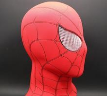 купить luxury Full Head Spider-Man 3D Red Latex Masks Halloween Spiderman Flexible Hood Party Hat Mask дешево