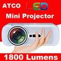 Оригинал WZATCO CTL80 мини Проектор HD 3D цифровой СВЕТОДИОДНЫЙ ЖК-ДИСПЛЕЙ с ТЕЛЕВИЗОР HDMI VGA USB SD AV видео проекторов для домашнего кинотеатра проектор