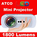 Original WZATCO CTL80 mini Projector HD 3D digital LED LCD with HDMI TV VGA USB SD AV video projectors for home theater Beamer