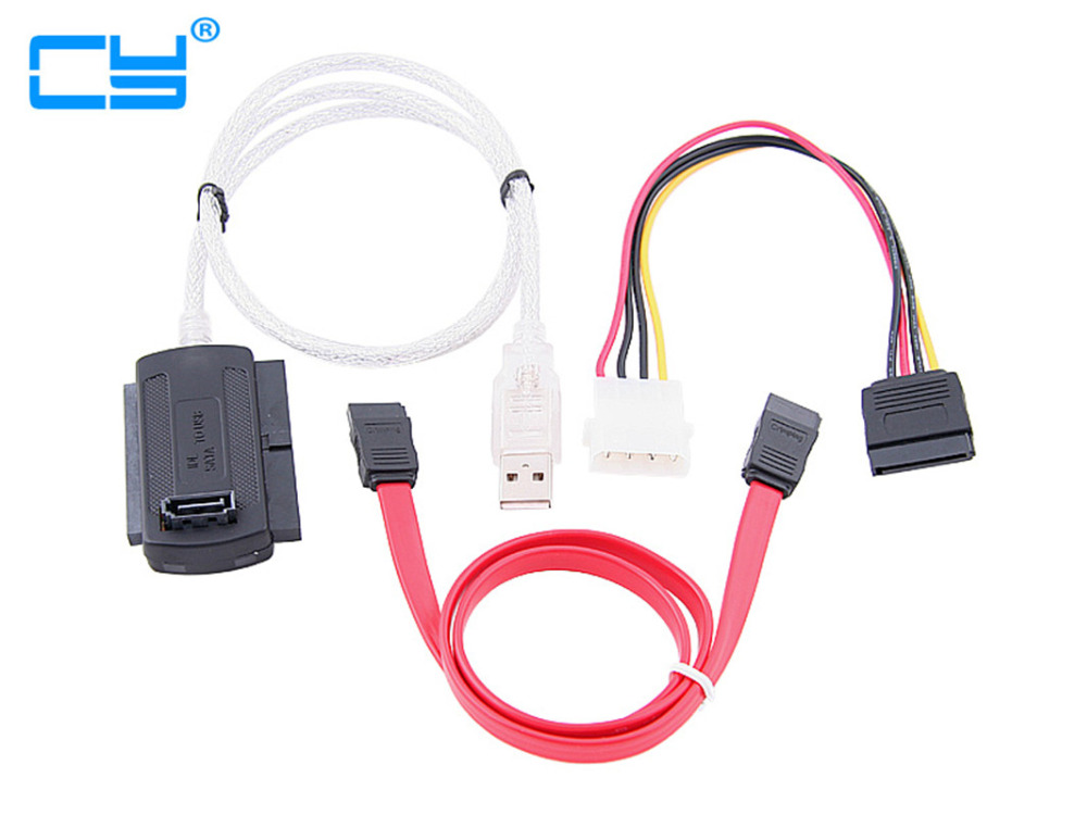 3 in 1  usb to sata cable USB 2.0 to IDE 40p SATA 22p 2.5  3.5 IDE HD Hard disk drive Adapter Converter Cable usb 3 0 2 0 to sata ide cable 2 5 3 5 hard drive adapter converter cable otb high speed transfer with cd driver power supply