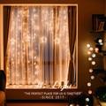2 5 м романтическая сказочная звезда светодиодная гирлянда для занавесок ЕС 220 в США 110 В Хвостовая вилка Рождественская гирлянда для свадебн...
