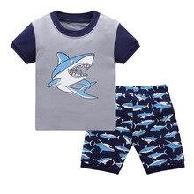Boys pyjamas New summer cotton kids clothes s set short sleeve sets Batman spiderman Iron Man Short