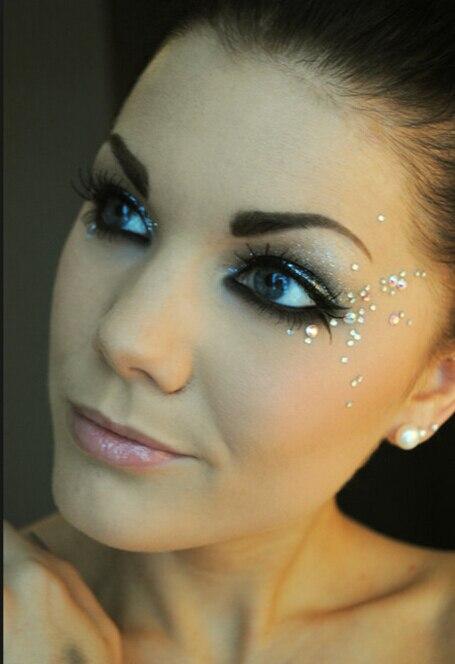 Jewel Eyes Sticker Tattoo Eyes Maquillaje Crystal Eyeliner Diamond - Tatuaje y arte corporal - foto 6