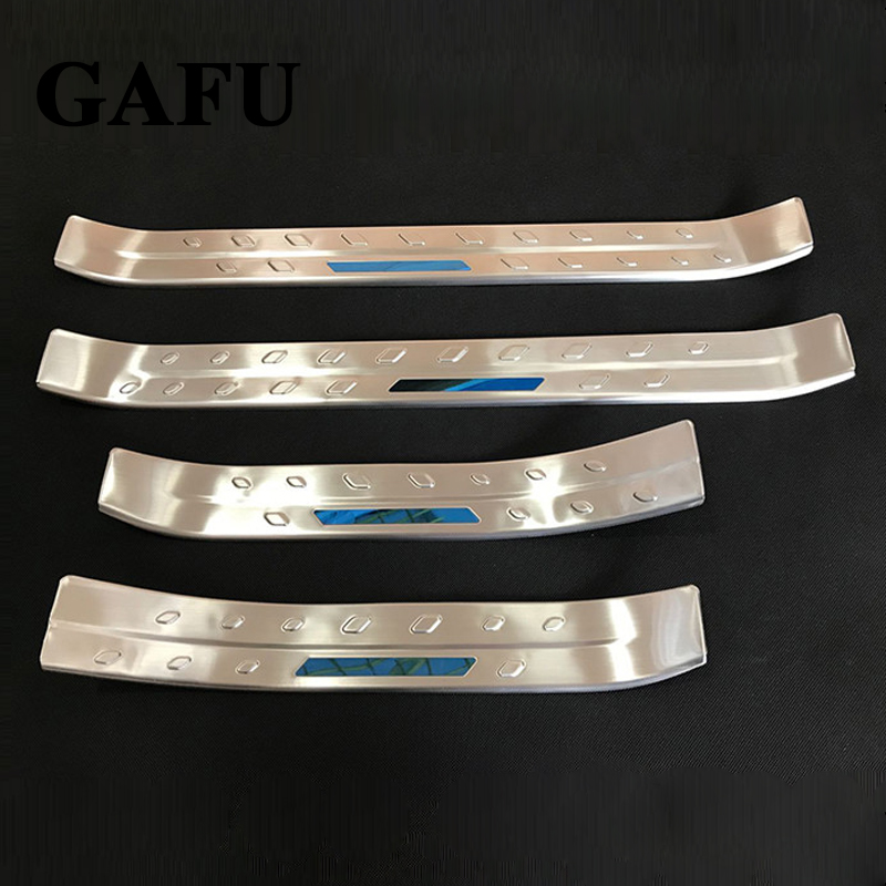 Car Accessories for toyota chr Scuff Plate Stainless Steel Door Sill Pedal Car Styling Sticker 2017