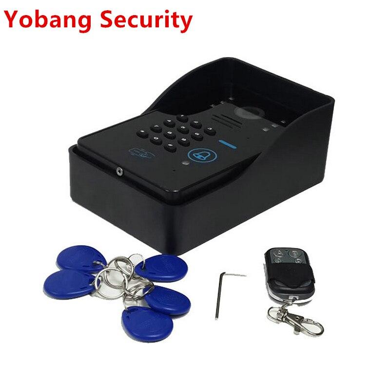 Уличная камера видеонаблюдения Yobang, камера ночного видения CMOS для видеодомофона, с rfid-доступом к двери