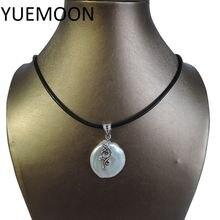 100% натуральный пресноводный жемчуг кулон ожерелье натуральная