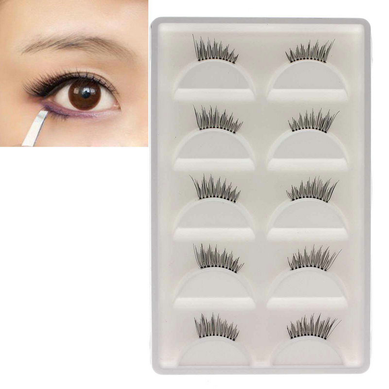 5Pairs  Lady's Half False Eyelashes Eye Lashes Beauty Makeup Tool Eyelash Extensions Hot