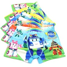 5 Underwear Boys Cartoon Cotton Girls Boxer Garcon Underpants