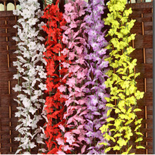 85cm Fake Flowers Simulation Silk Flower Rattan Wedding Party Decoration Home Decor Hanging Garland Artificial Flower Rattan garland flowers wedding decoration artificial hydrangea vine party plastic flowers wall decor rattan silk flower wisteria wreath