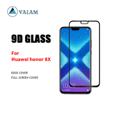 VALAM Tempered Glass Screen Protector For Huawei honor 8X 9H Hardness  Full Cover 3D Curved Edge Honor