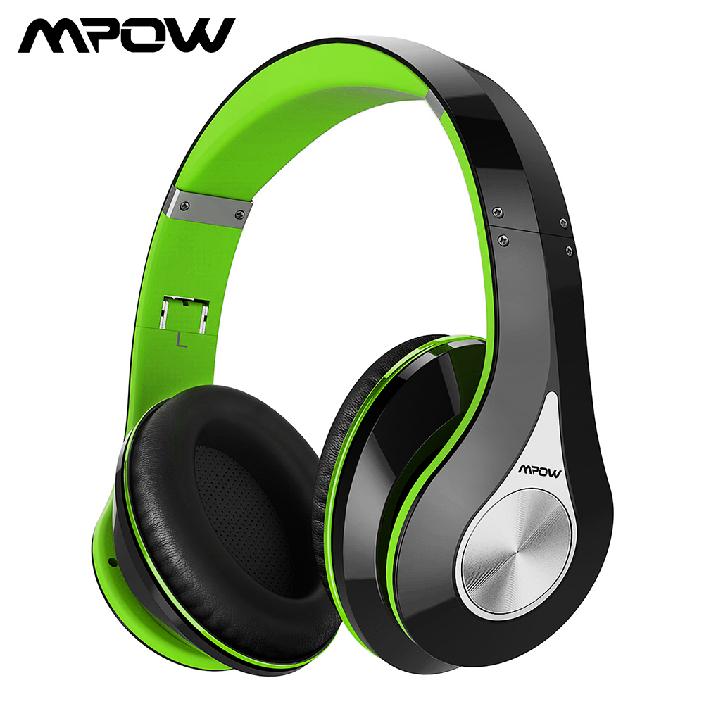 Mpow 059 Bluetooth Wireless Headset Over-ear Stereo Foldable Headphone Ergonomic Design EarmuffsBuilt-in Mic and Wired Mode mpow wireless headphone bluetooth 4 1 in ear headset with remote control