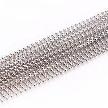 10 м/лот Родиевые бусины 12 мм 15 2 24 32 шариковые цепи для