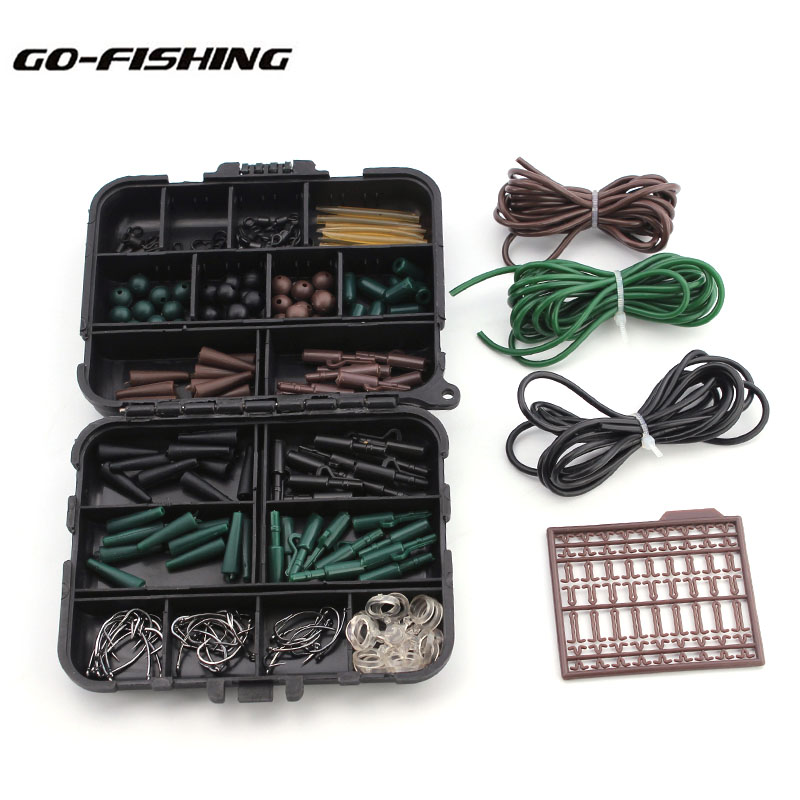 Go-<font><b>Fishing</b></font> Assorted <font><b>Carp</b></font> <font><b>Fishing</b></font> <font><b>Accessories</b></font> Tackle Boxes for Hair Rig Combo with Hooks