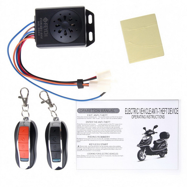 1 SET Universal Waterproof Motorcycle Motorbike Scooter Anti-theft Security Remote Alarm Hot Sale !