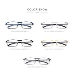 Image 5 - Tytanowe okulary optyczne rama mężczyźni Ultralight Square krótkowzroczność okulary korekcyjne 2019 męskie metalowe pełne bezśrubowe okulary