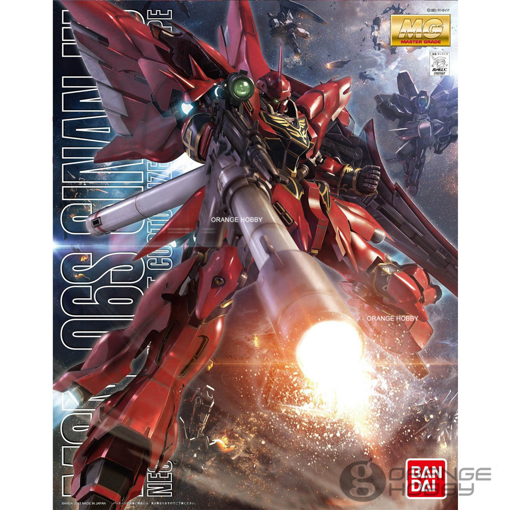 Bandai MG 1/100 MSN-06S Sinanju Ver.Anime Mobile Suit Gundam Assembly Model Kits bandai 1 100 mg assault purples gundam model page href page 5 page 1