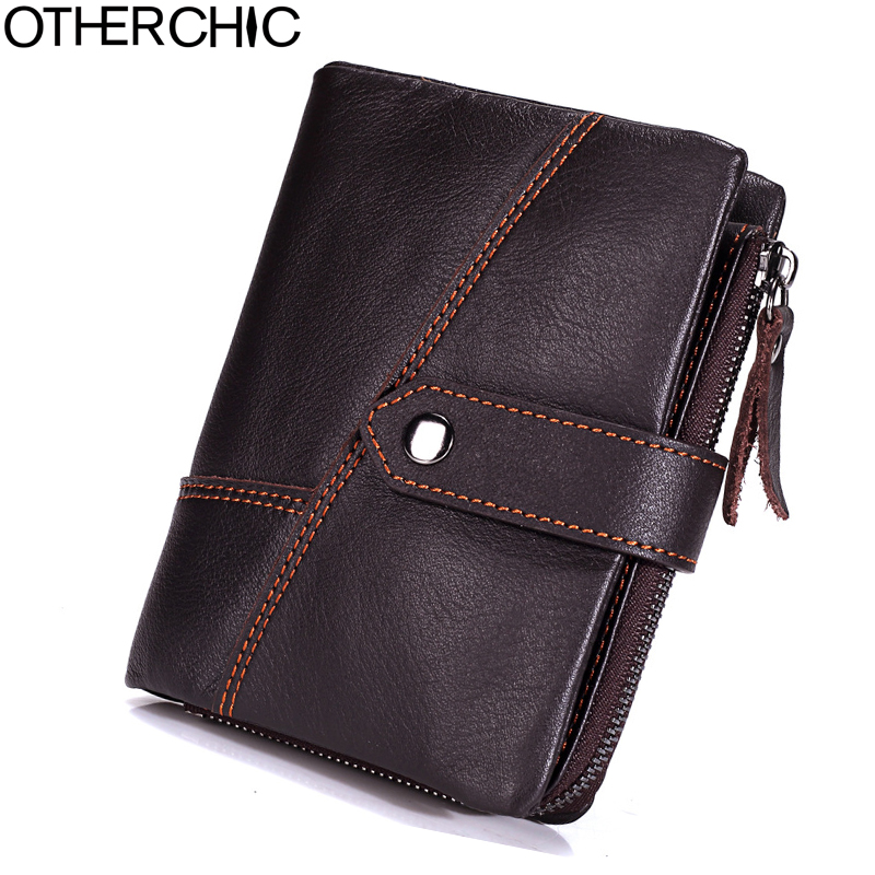 OTHERCHIC Genuine Leather Men Wallet Coin Purse Men Small Wallet Vintage Short Wallets Hasp Men's Purses  17Y04-87 2017 new wallet small coin purse short men wallets genuine leather men purse wallet brand purse vintage men leather wallet page 7