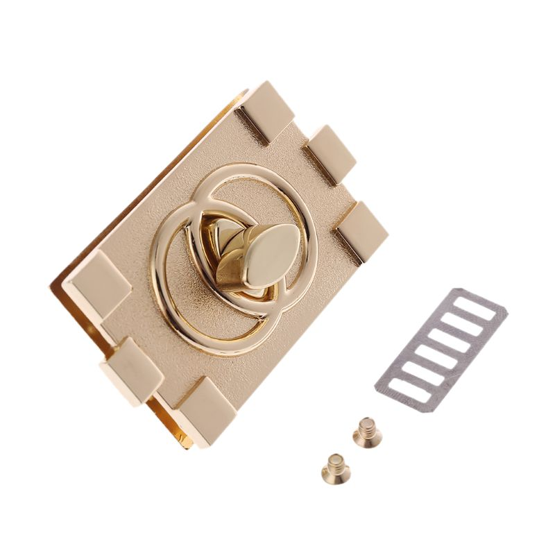 Rectangle Shape Clasp Turn Lock Twist Locks DIY Leather Handbag Bag Hardware Accessories