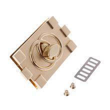 Rectangle Shape Clasp Turn Lock Twist Locks DIY Leather Handbag Bag Hardware Accessories round shape metallic twist lock crossbody bag