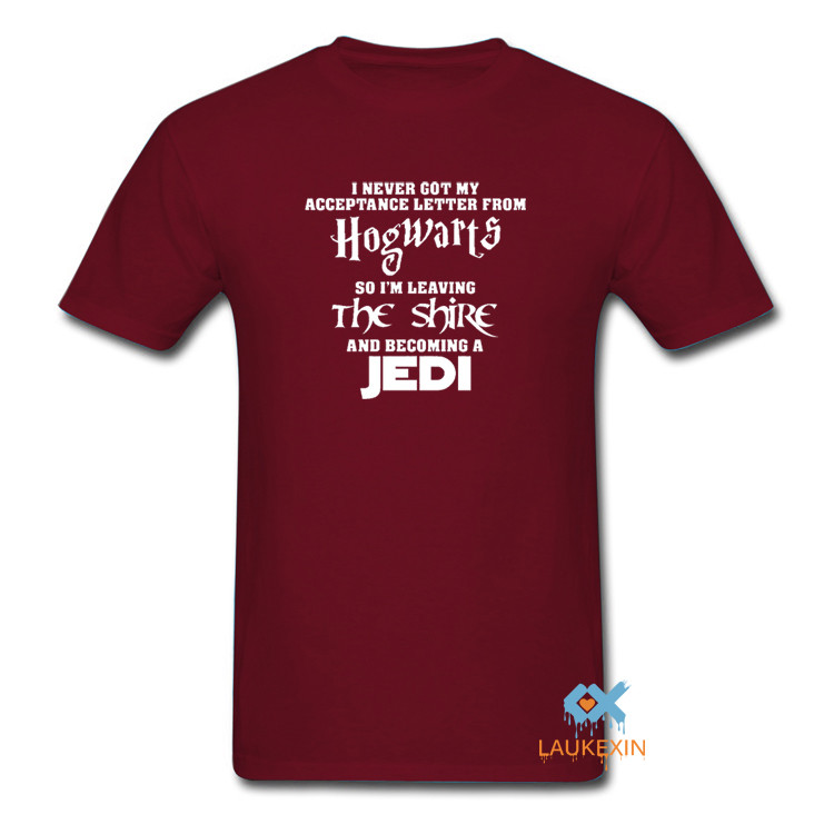 red starwars and harry potter i never got my acceptance letter from hogwarts tshirt