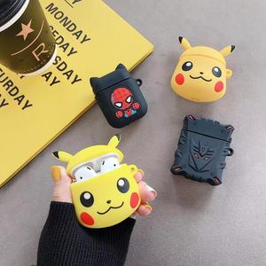 3D Cartoon Cute Soft Spiderman Silicone Case For Apple Airpods Cover For AirPods Earphone Box Air Pods Case Earphone Accessories(China)